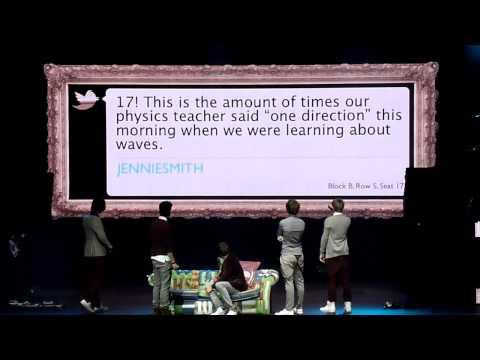 One Direction - Reading Tweets and Inbetweeners Dance - Birmingham NIA 04/01/12