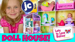 🏠Super Cute Tiny Doll House! 🎀JC Toys, Lots To Love Play House Unboxing! 😃So Tiny & Too Cute!😍