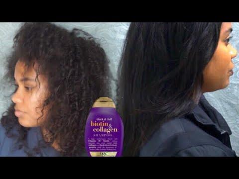 ORGANIX BIOTIN COLLAGEN Shampoo & Conditioner demo + review