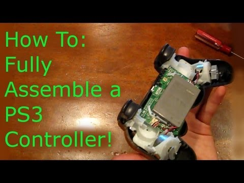How To: Fully Reassemble a Ps3 Controller!