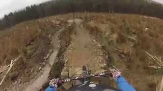 Downhill Track Awesome Crash @ Gisburn Trail By Rob Wardle. Cube Stereo Super HPC Race