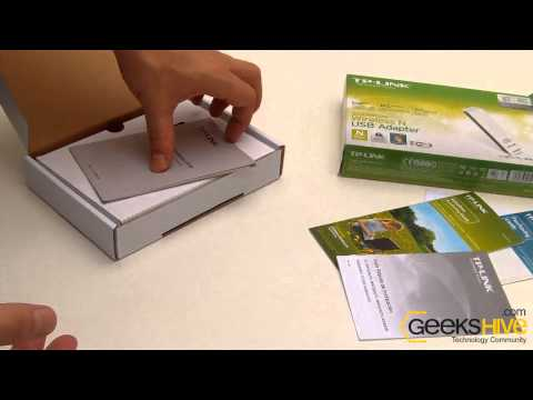 Wireless-N usb adapter Tp-Link TL-WN821N - Unboxing by www.geekshive.com