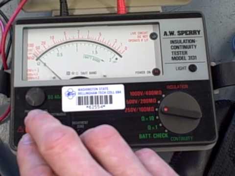 Megger High Voltage Insulation Tester Youtube