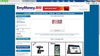 Cách kiếm thu nhập 100$/1 ngày với Emymoney. Kiếm tiền trên online trên internet 2018