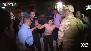 RAW: Teen allegedly wearing 'suicide vest' arrested in Kirkuk, Iraq
