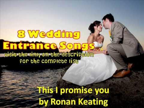 Wedding Entrance Songs 2013