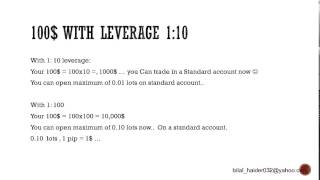 Forex For Beginners Part 6 - Leverage (how can i start trading with 100$)