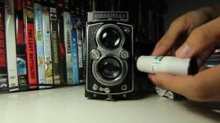 How to ? load film 120  Rolleiflex Camera