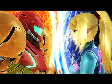 Super Smash Bros 4 Characters: Zero Suit Samus (WII U / 3DS Gameplay) 【All HD】