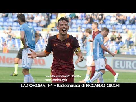 LAZIO-ROMA 1-4 - Radiocronaca di Riccardo Cucchi (3/4/2016) da Rai Radio 1