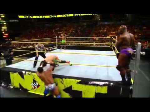 Titus O'neil & Darren Young Vs Jimmy & Jey Uso - Wwe Nxt 04 4 12 - (hq) video