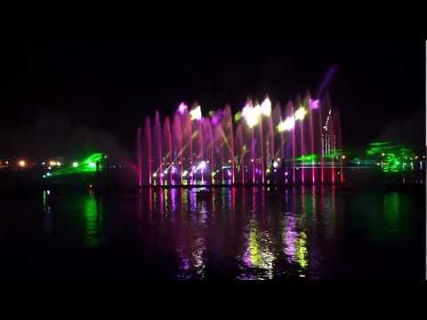 Dubai Festival City Light, Laser, Water and Fire Show. 19.12.2012