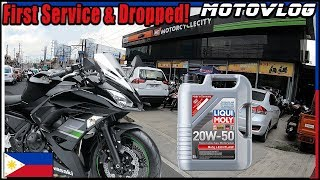 Ninja 650 First Service & Dropped - Liqui Moly - Motovlog