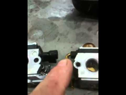 STIHL TRIMMER-WEED EATER REPAIR: stihl carburetor repair-replacement fs. fc. km. hl.  45. 46.  55