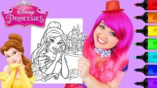 Coloring Belle Disney Princess Castle Coloring Page Prismacolor Markers | KiMMi THE CLOWN