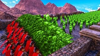 WALL MADE OUT OF 1,000,000 DEAD ZOMBIES! (Ultimate Epic Battle Simulator)