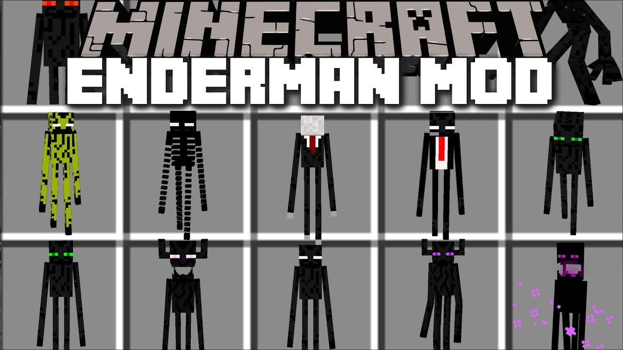 Minecraft ENDERMAN APOCALYPSE MOD / FIGHT OFF ALL ENDERMANS AND SURVIVE!! Minecraft