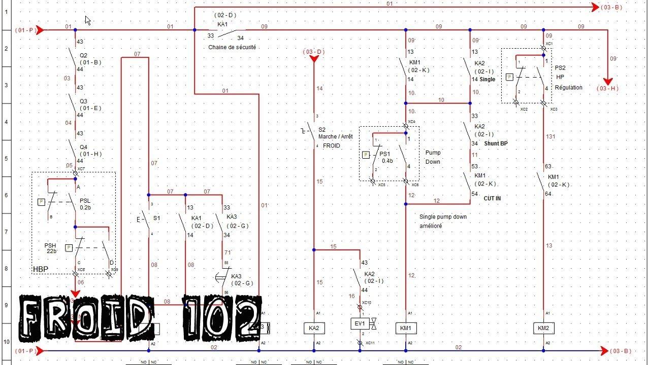 Froid102 montage 3 r armement automatique chaine de s curit suite coupure de courant youtube - Schema electrique chambre froide ...