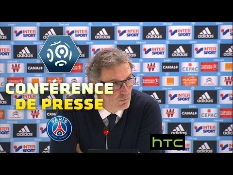 Laurent Blanc en conférence de presse d'après-match OM/PSG 2015-16