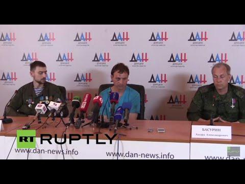LIVE: DPR Deputy Defence Minister Eduard Basurin holds press conference in Donetsk