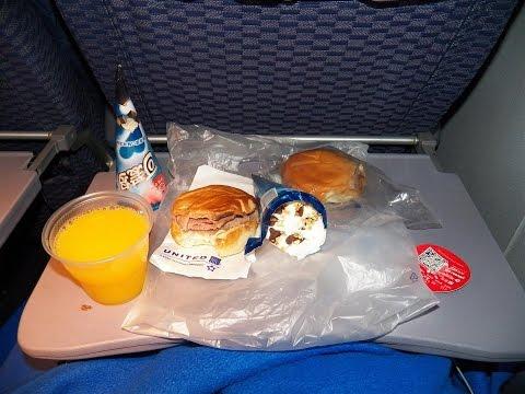 4K UHD United Airlines 777 Food Service PVG-EWR Free Mid Flight Snack International Coach Part 2