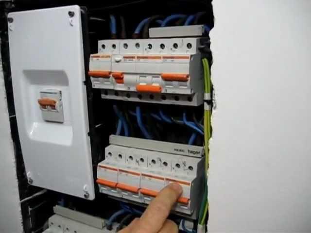 Cuadro general eléctrico de una vivienda, (I).