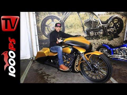 Thunderbike   Harley Davidson Bagger mit 30 Zoll Felge - Custombike