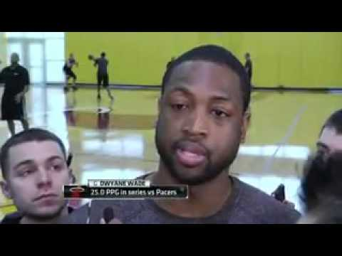 Paul George, Dwayne Wade Talk After Practice on Friday