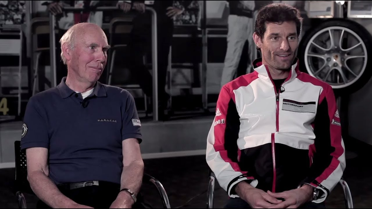 Porsche Past Amp Future Mark Webber Meets Le Mans Legend