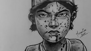 Drawing Clementine from The Walking Dead - Telltale Games