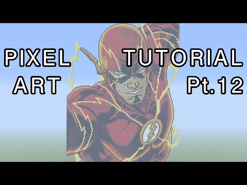 Minecraft Pixel Art Tutorial - The Flash Part 12