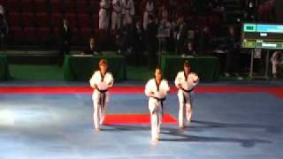 2nd WC Poomsae 2007 Incheon   Team II Female Finale Pyongwon + Chonkwon Spain
