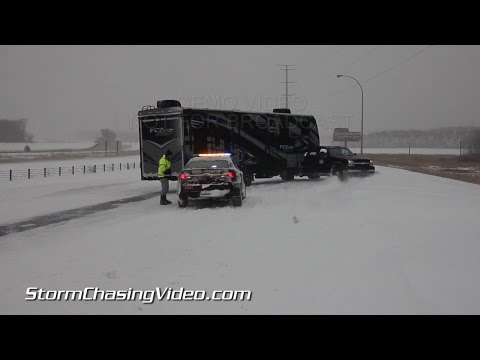 11/10/2014 Saint Cloud, MN Winter Storm Bad Roads B-Roll