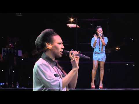 ALEXANDRA BURKE TRIBUTE TO WHITNEY AT THE O2, YOUNG VOICES 2012