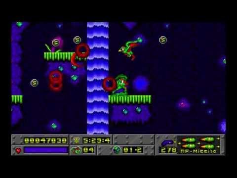 Jazz Jackrabbit Episode 1: Turtle Terror Diamondus level 2 1994 Epic Megagames HD
