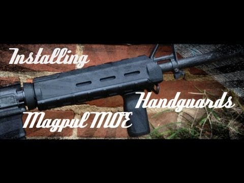 Installing Magpul MOE AR-15 Handguards (How To) HD