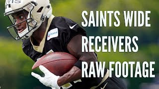 Saints wide receivers at Minicamp: Raw Footage