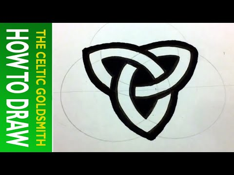 How to Draw Celtic Patterns 36 - Perfect Triskele (positive)