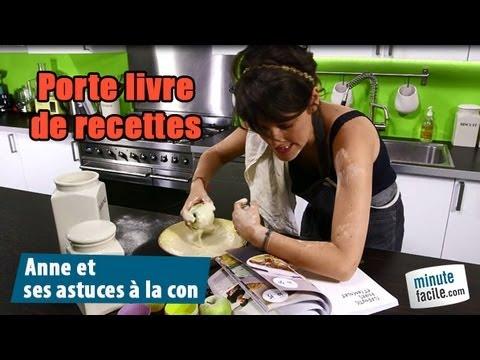 Comment faire un porte livre de recettes youtube - Porte livre de cuisine ...