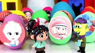 15 Play-doh Egg Surprises feat. Ralph Breaks the Internet (Wreck-it-Ralph 2), Vanellope