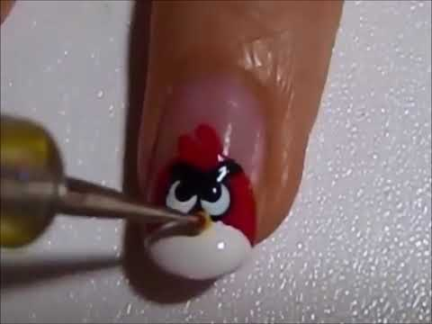 Uñas Decoradas Angry Birds