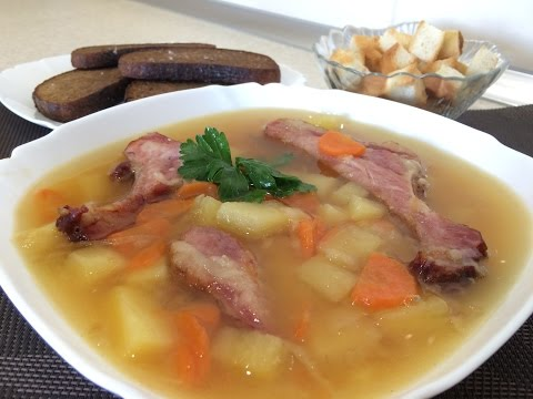 Как приготовить гороховый суп - рецепт - видео