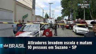 Atiradores invadem escola e matam 10 pessoas em Suzano-SP | SBT Brasil (13/03/19)