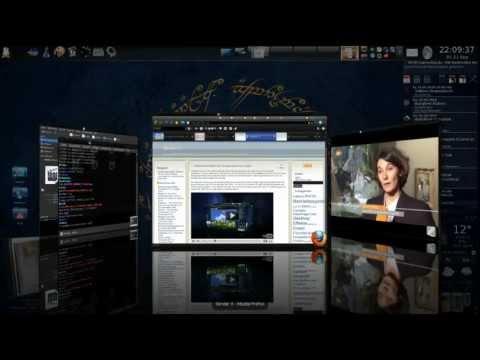 Ubuntu 3d Desktop Cube Kde Compiz Fusion Cairodock