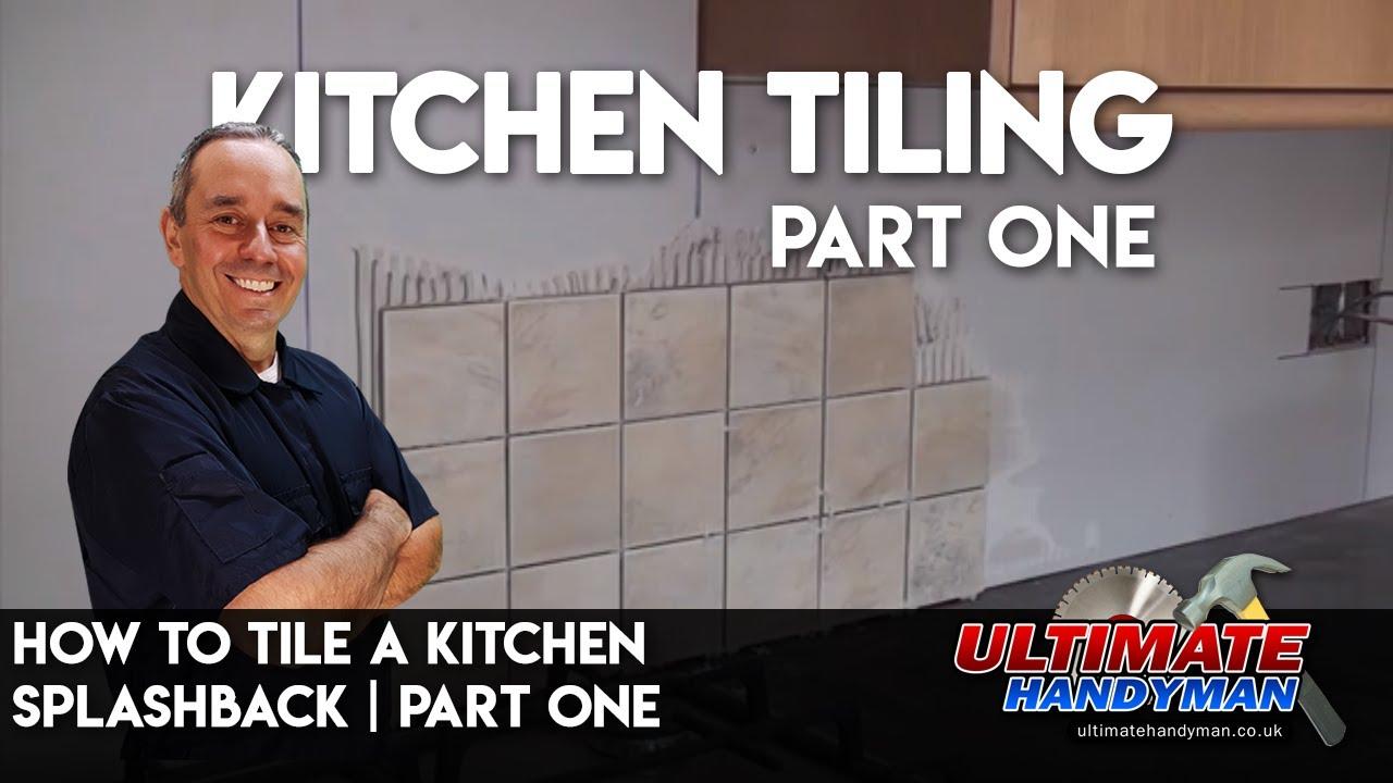How to lay tile backsplash