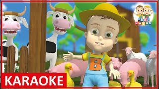 KARAOKE || Old MacDonald had a Farm | Nursery Rhymes for Kids Songs