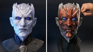 The Night King as Darth Maul - Sculpture Timelapse - Game of Thrones/Star Wars Mash-Up