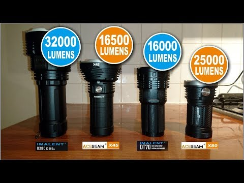 The top 4 brightest Flashlights!!!