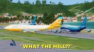 WORST PILOTS EVER in Flight Simulator X (Multiplayer ATC)