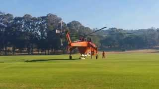 Erickson air crane start up and takeoff